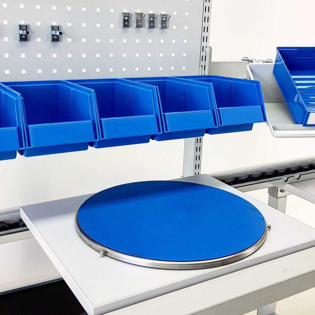 Sovella Nederland Treston ESD-veilig draaiplateau op assemblagelijn of ESD veilige concept werktafel