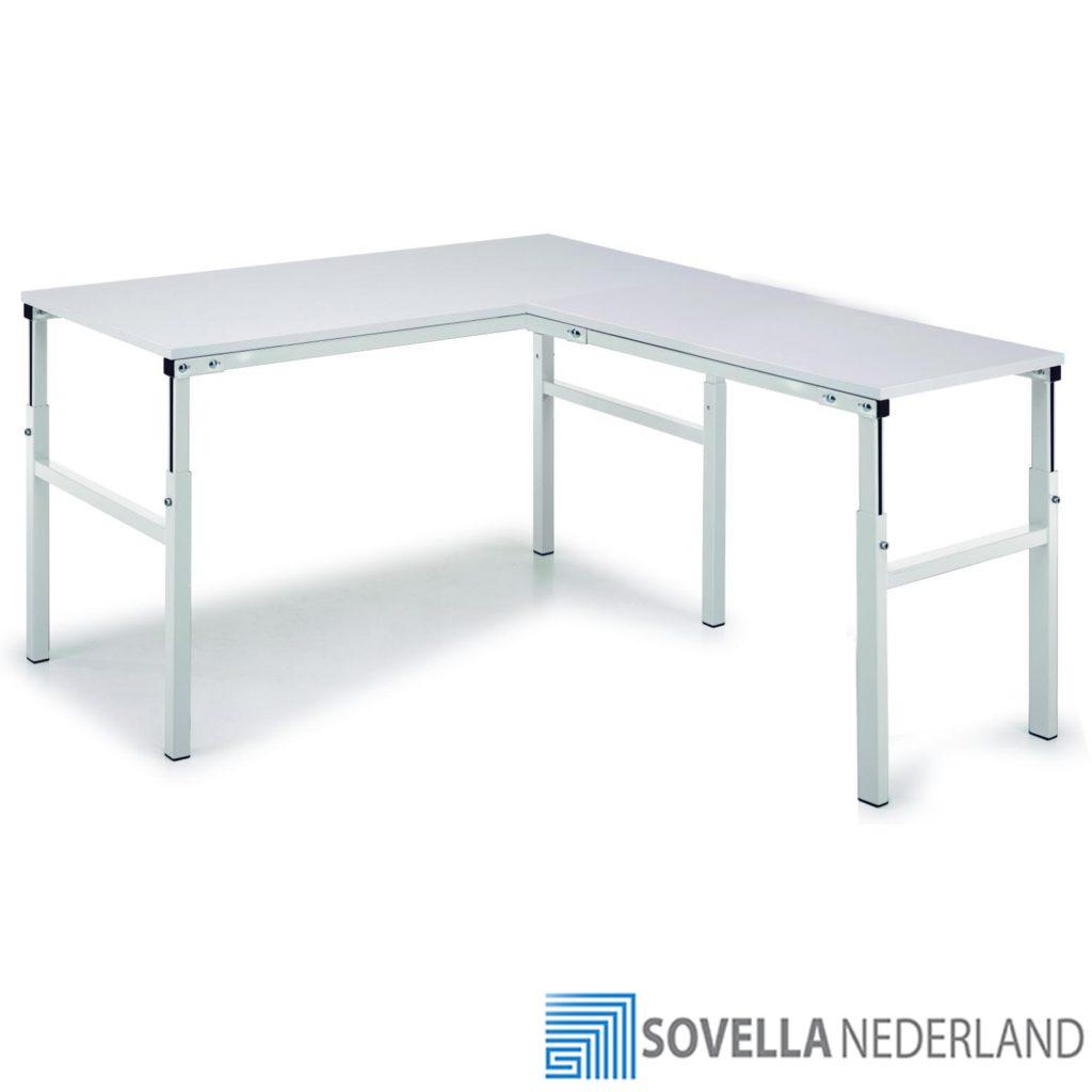 Sovella Nederland Treston TP werktafel voor ESD-veilige werkplaats, hoogte instelbaar met hoekoplossing