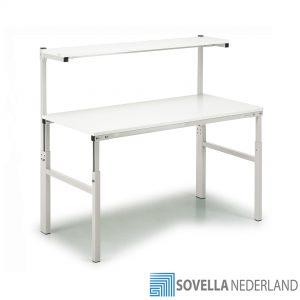 Sovella Nederland Treston TPH basis werktafel met legbord meetopstand ESD en met laminaat tafelblad - bezoek de showroom