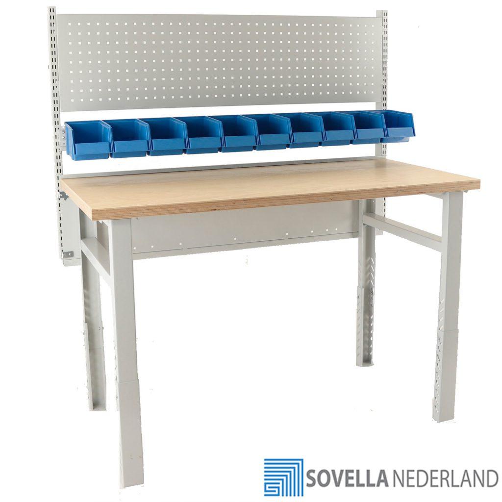 Sovella Nederland BV Treston workshop werkbank met multiplex blad modulair in te richten - bezoek onze showroom